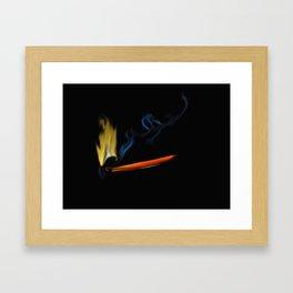 47- matchstick & flame Framed Art Print