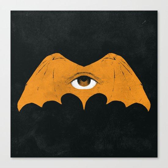 gold bat Canvas Print