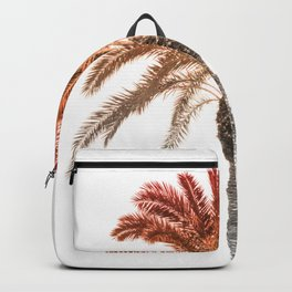 Colourful orange tropical palm tree Backpack