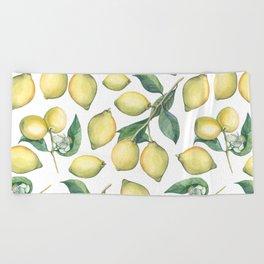 Lemon Fresh Beach Towel