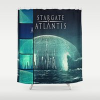 stargate Shower Curtains featuring Through the storm by Samy