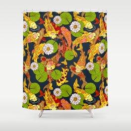 Bright Koi Shower Curtain