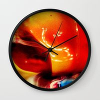ombre Wall Clocks featuring Ombre by AcerbicAndrewArt
