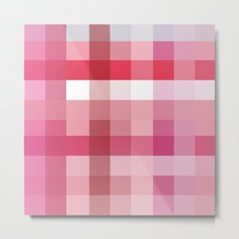 Pixelate Rose Metal Print