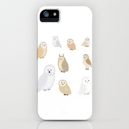 Owls of The World, Owl Lover Gift, Bird Lover, Bird Watcher Shirt iPhone Case
