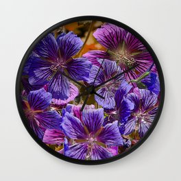 SPECIE GERANIUMS Wall Clock