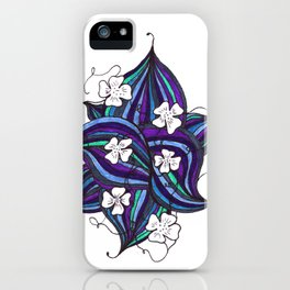 Floral Curves in Purple iPhone Case