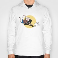 tintin Hoodies featuring Adventure Tin by Moysche Designs