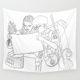 Moonrise Kingdom Sam & Suzy Wall Tapestry
