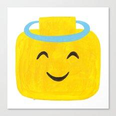 Emoji Minifigure Angel Devil Canvas Print