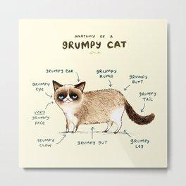 Anatomy of a Grumpy Kitty Metal Print