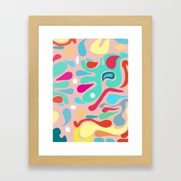 Summer Dream in Green Framed Art Print