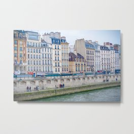 Paris River Architecture Metal Print