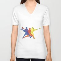 lacrosse V-neck T-shirts featuring Lacrosse by preview