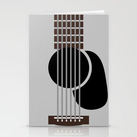 Minimalist Guitar Stationery Cards