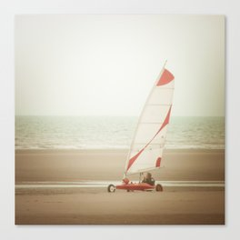 Char à voile yachting Canvas Print