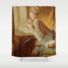 "Jean Honoré Fragonard (1732–1806) ""The Love Letter"" Shower Curtain"