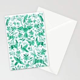 Mexican Otomí Design in Turquoise Stationery Cards