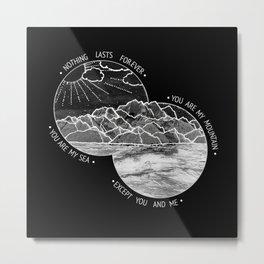 mountains-biffy clyro (black version) Metal Print