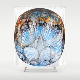 Colored Sphere Shower Curtain