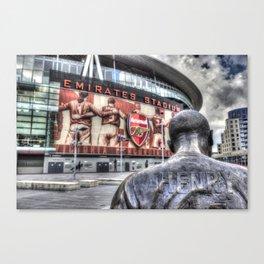 Thierry Henry Statue Emirates Stadium Canvas Print