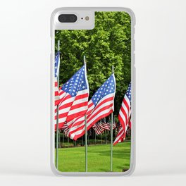 Flags Flying in Memoriam II Clear iPhone Case