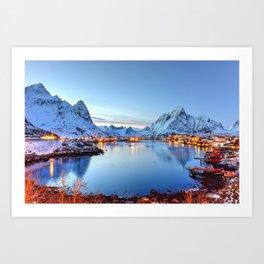 Lofoten islands, Norway Art Print