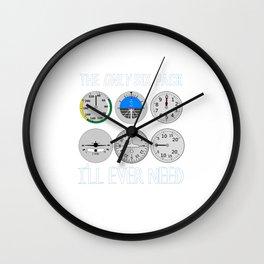 Only Six Pack I'll Need T-Shirt Funny Pilot Design Wall Clock