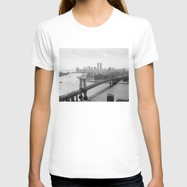 Photograph of NYC and The Williamsburg Bridge T-shirt
