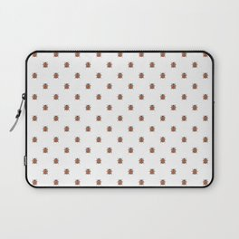 Lucky Ladybug Watercolor Print Pattern Laptop Sleeve