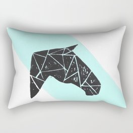 Geometric Horse Rectangular Pillow