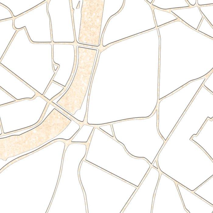 White on Gold London Street Map Leggings