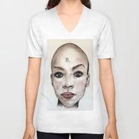 avatar V-neck T-shirts featuring Avatar by Courtney James