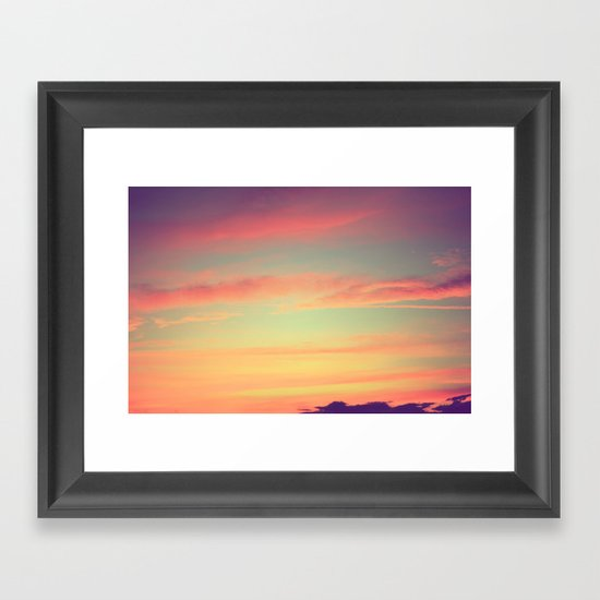 When Rainbows Go To Bed Framed Art Print