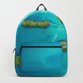 Green Islands in the Water (Color) Backpack