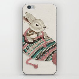 Cozy Bunny and Chipmunk iPhone Skin