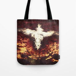 Fantasy artwork. Angel or Damon? Winged crature with crown. Tote Bag