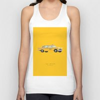 taxi driver Tank Tops featuring Taxi Driver  | Famous Cars by Fred Birchal