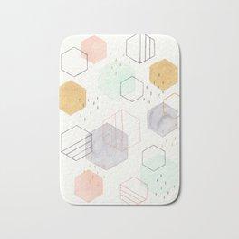 Hexagon Scatter Bath Mat