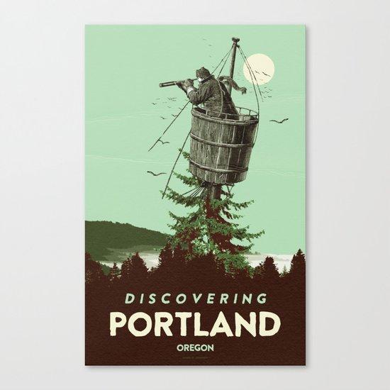 DISCOVERING PORTLAND Canvas Print
