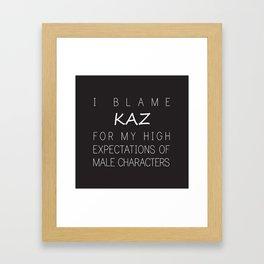 Kaz Brekker Framed Art Print