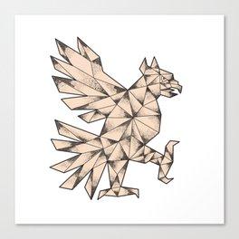 Cuauhtli Glifo Eagle Tattoo Canvas Print