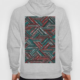 TRIANGLE-RED & GREEN STRIPES Hoody