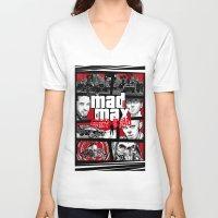 gta V-neck T-shirts featuring Mashup GTA Mad Max Fury Road by Akyanyme