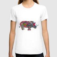 rhino T-shirts featuring Rhino by Green Girl Canvas