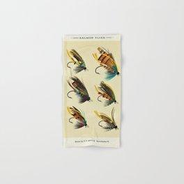 Illustrated Salmon Fly Fishing Game Fish Identification Chart Hand & Bath Towel