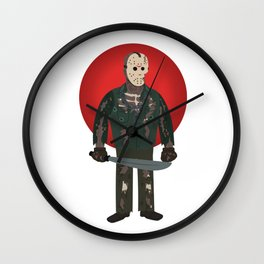 Jason Voorhees Friday the 13th Part 7 Wall Clock