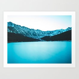 Clinton Gulch // Scenic Sunset Colorado Mountain Range Lake Forest Landscape Photography Decor Art Print