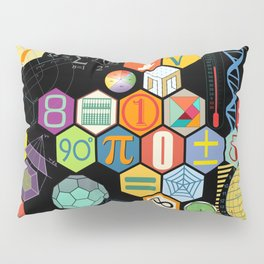 Math in color Black B Pillow Sham