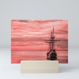 dream sailing boat  Mini Art Print
